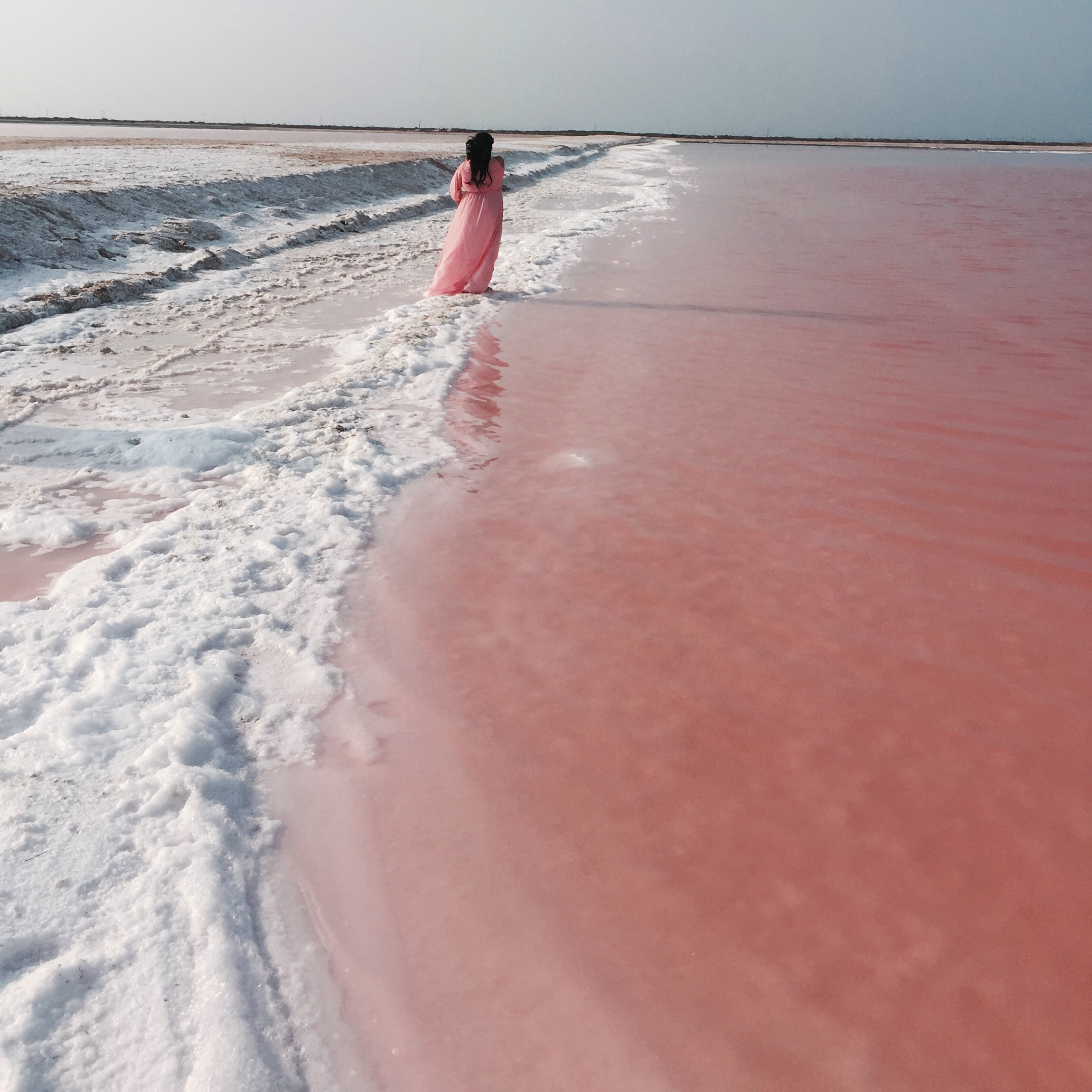 LAS COLORADAS - Cotton-candy pink lakes filled with salt. Unreal.This was my ultimate favourite thing about our trip, {besides an awesome picture my husband took within 10 minutes of getting there}this place was insanely beautiful!It is super pretty to look at, but not somewhere you want to swim in, since the vibrant glimmering pink color is due to red-colored algae, plankton, and brine shrimp that thrive in salty environment.Oh, and it had an awful odor too, but it was breathtakingly pretty and that itself was enough!