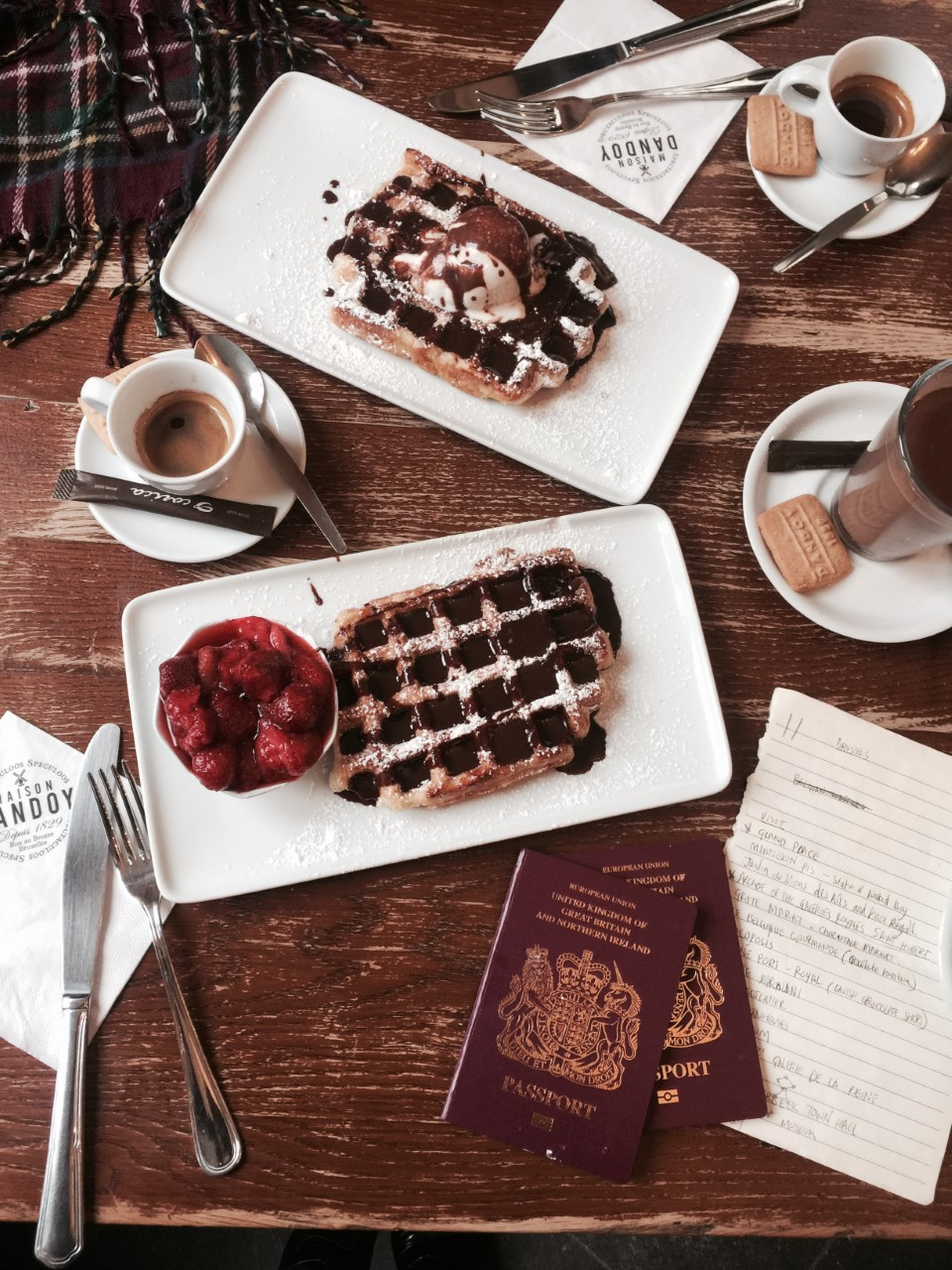 MAISON DANDOY - No better start to the Trip than with Belgium waffles for breakfast!Best waffles in town!