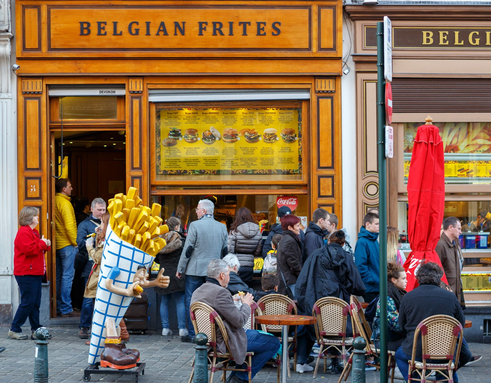 BELGIAN FRITES - Besides chocolate, Belgium is also known for it's frites (aka fries), unfortunately, we waiting in line for almost 10 minutes and did not move so we left..however if you get a chance try them out!