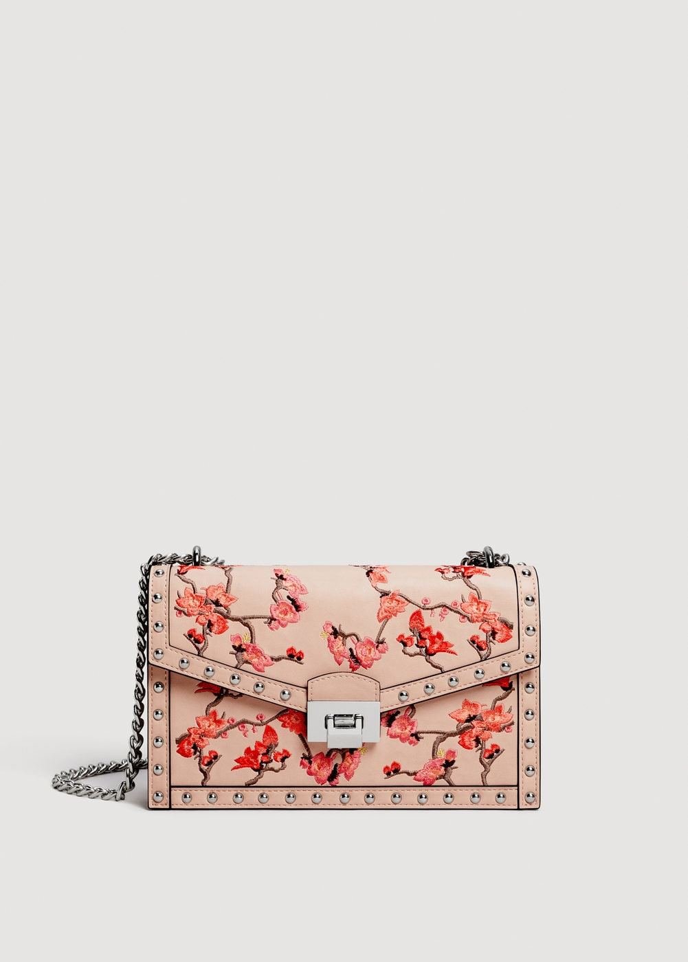 studded embroidery bag    SPRING CAN'T BE SPRING WITHOUT A FUN FLORAL PRINT & YES, EMBROIDERY IS STILL SUPER ON TREND THIS Season! GO for a more subtle hint of embroidery WITH SOFTER COLORS ON CLASSIC CROSS BODY BAGS FOR A STYLISH CLASSIC LOOK!