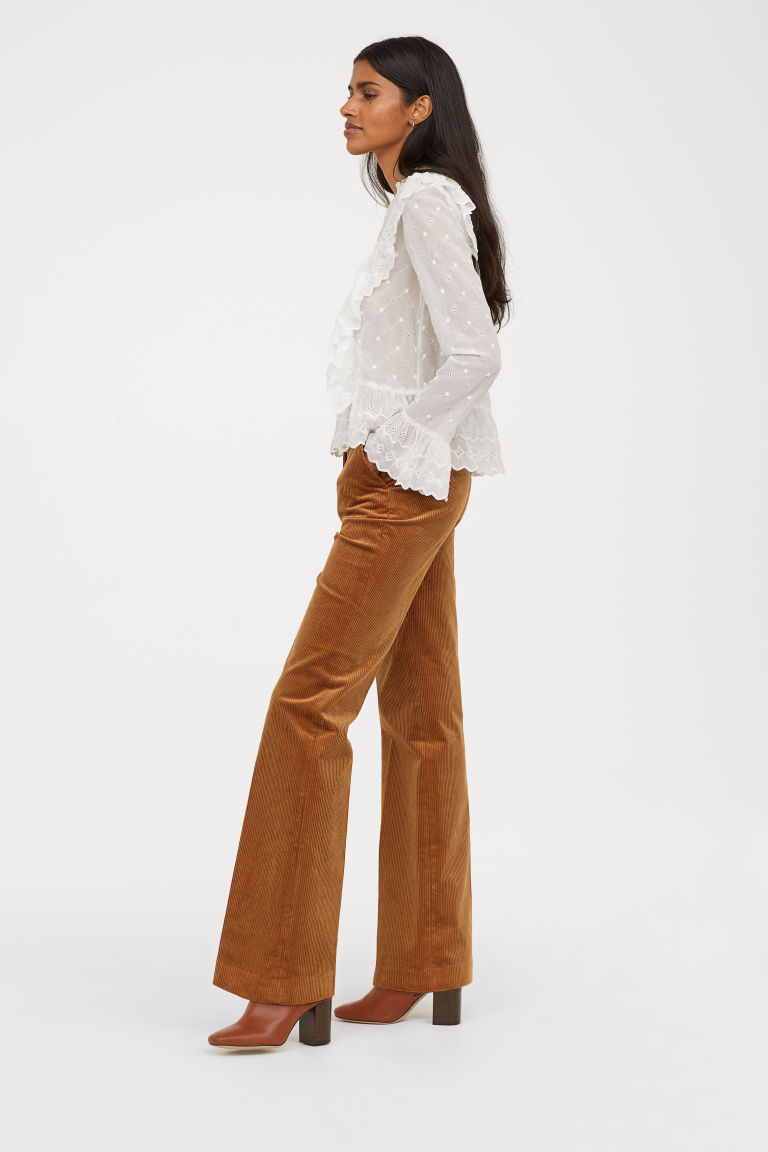 wide leg corduroy pants    http://www2.hm.com/en_us/productpage.0671491001.html
