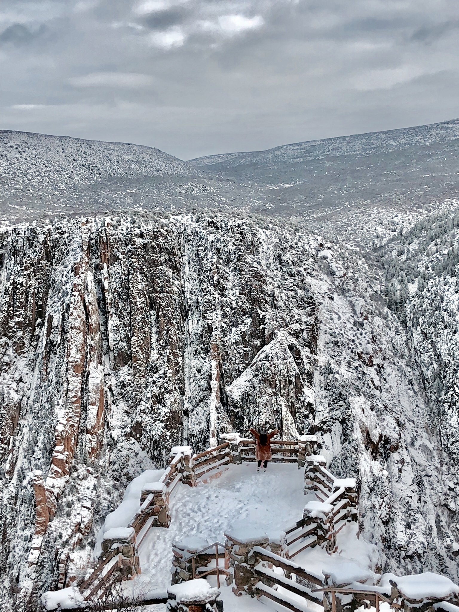 BLACK CANYON OF GUNNISION NATIONAL PARK - WOW WOW AND WOW!The Grand Canyon of Colorado.We were not expecting this stunning canyon to be dusted with snow, although half of the national park was shut down due to the snow and extreme weather conditions, the first few view points were open and simply breathtaking. A a few hours drive from Denver and Vail, however it was worth every minute!Just check out this view!