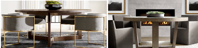 Examples of RH furniture (image credit Restoration Hardware)