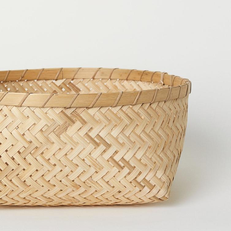 Large Braided Bamboo Basket