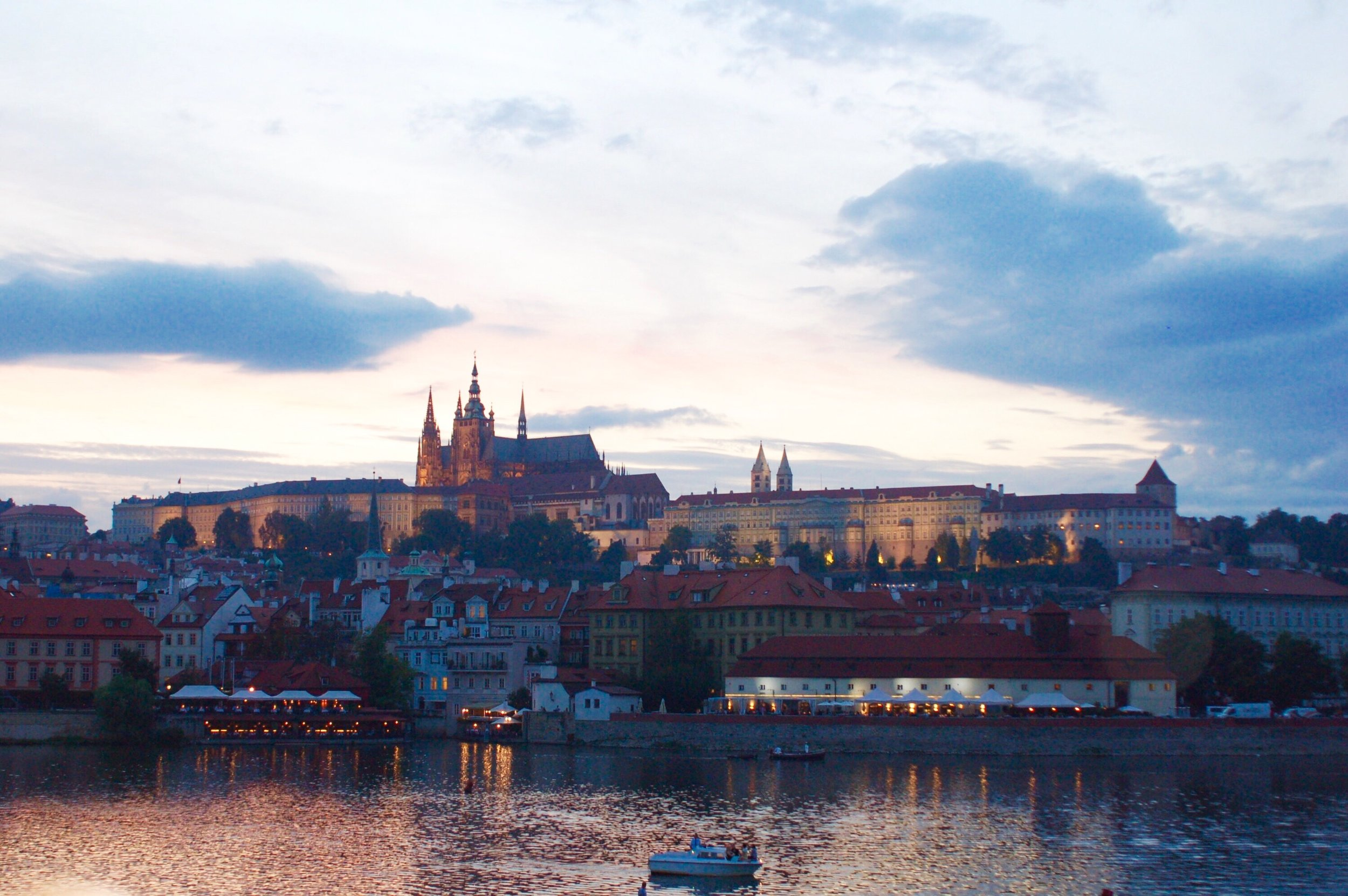 An evening view of Malá Strana