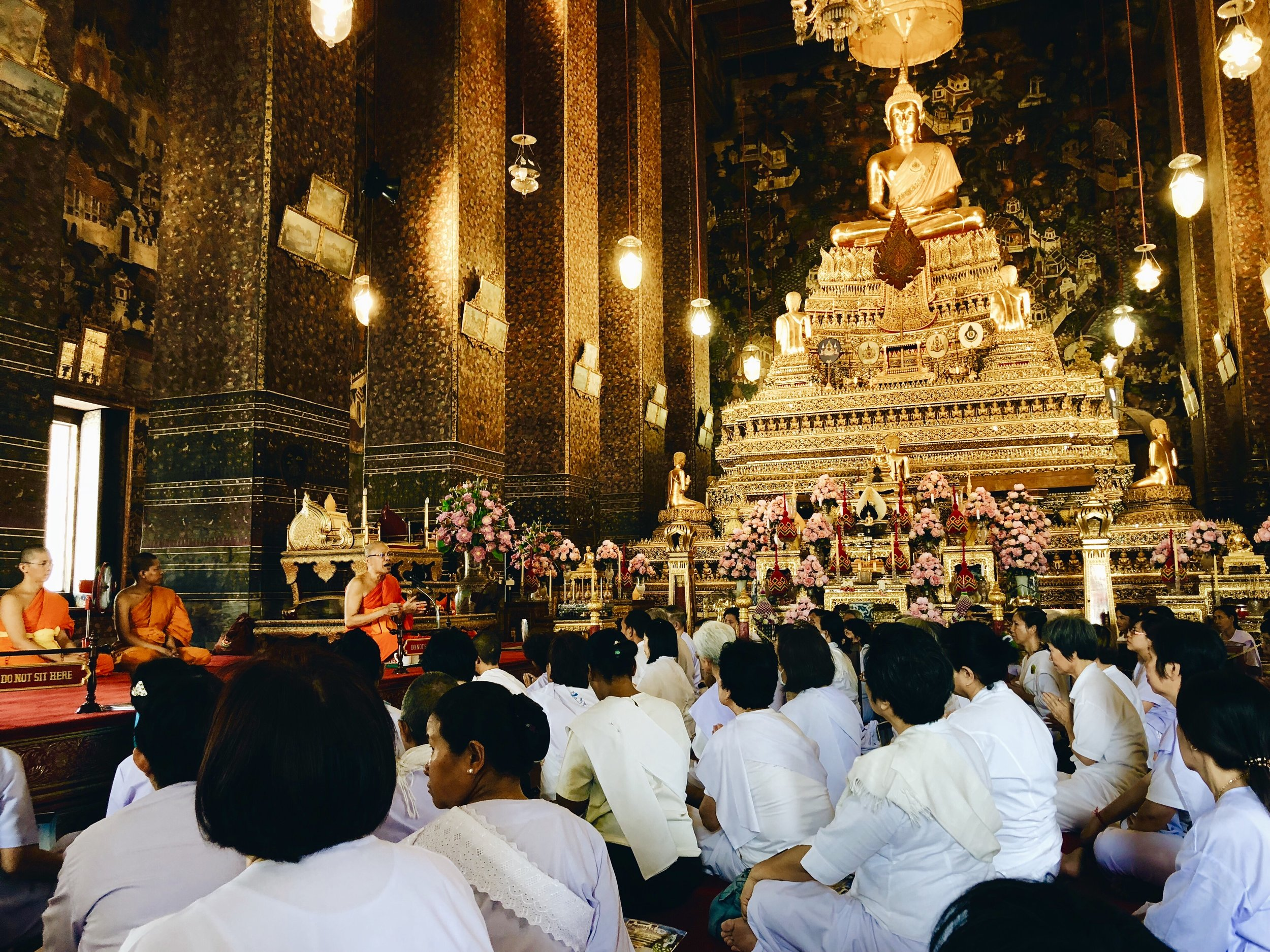 Getting wisdom from a Thai monk