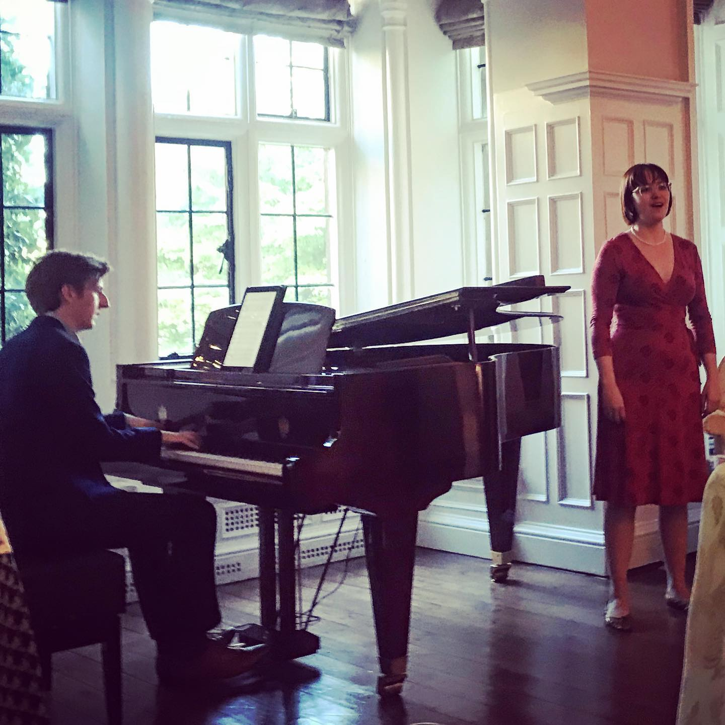 A mini-recital at the Macmillan Cancer Support donor event at Trinity College, Oxford. Accompanied by Jonathan Jarvis (May 2019)
