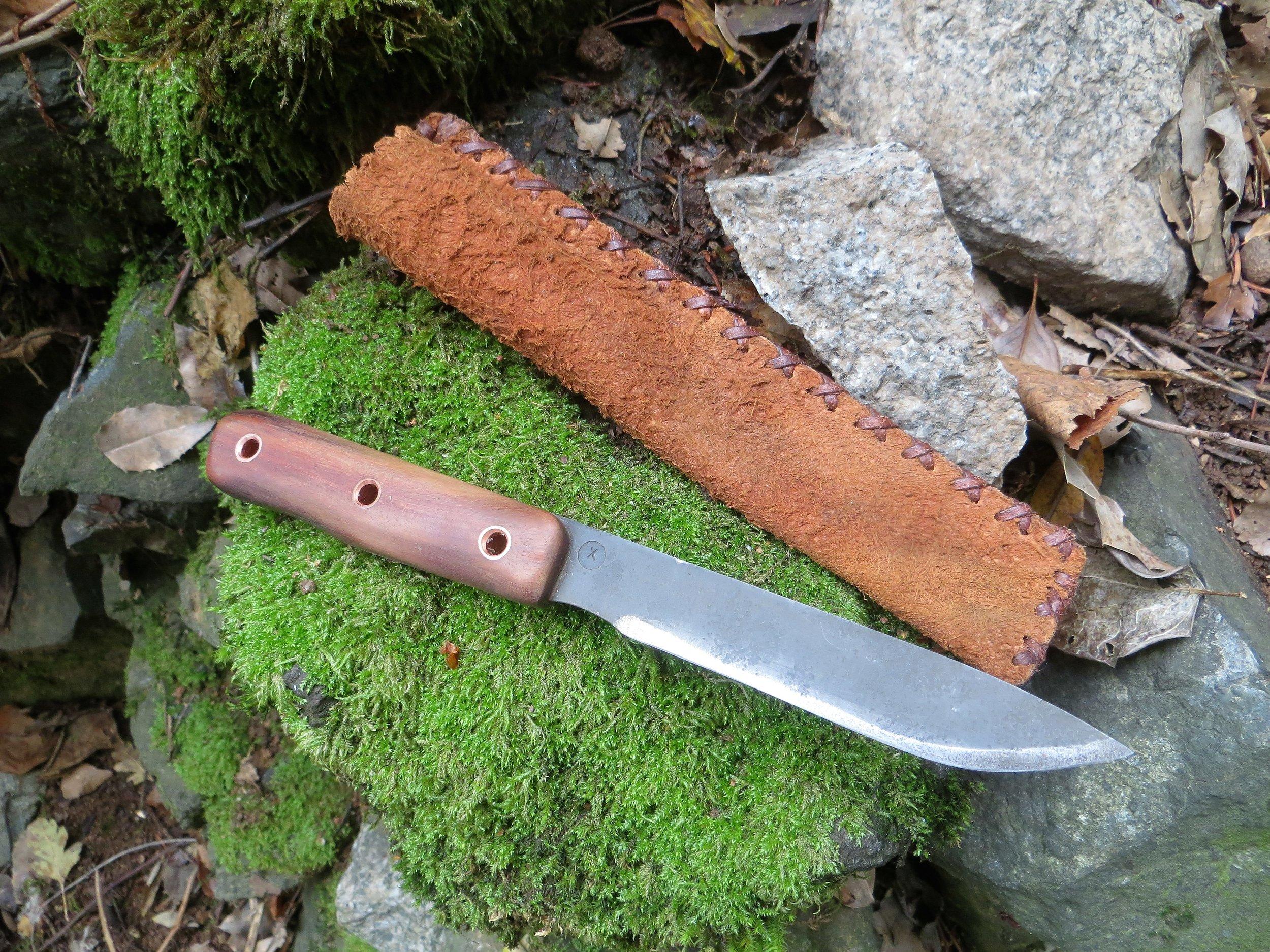 9 Finished Jungle knife and sheath.
