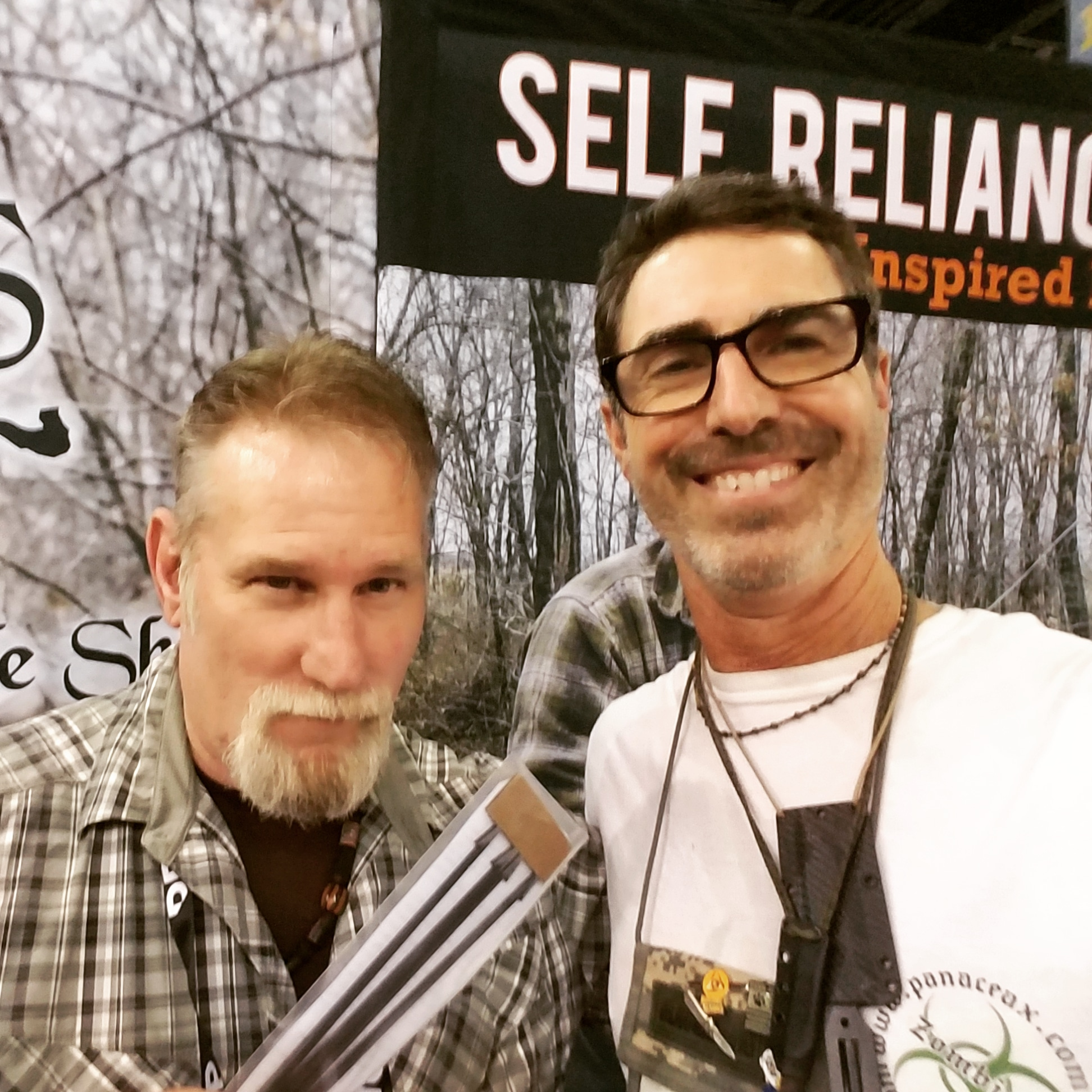 Dave Canterbury from Self Reliance Outfitters and Rob Weir from Panacea X. Dave loves Panacea X Gigs!
