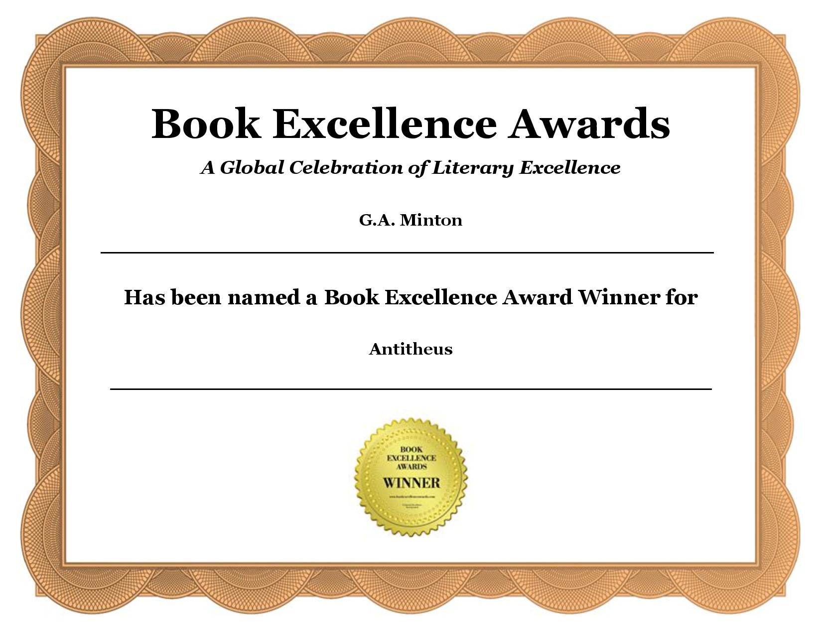 2018 BOOK EXCELLENCE AWARD WINNER