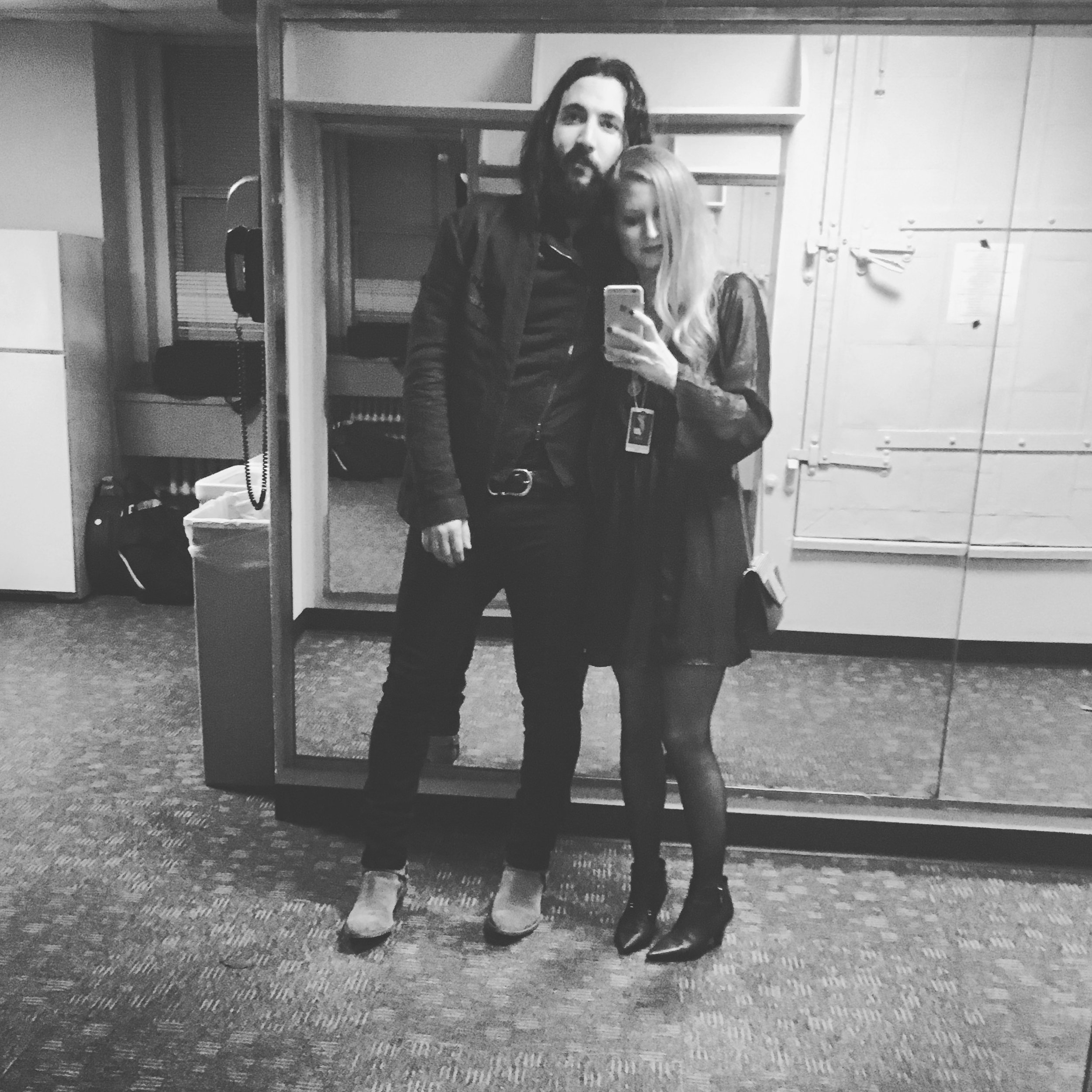 Hey guys. This is us backstage at Radio City when Ron performed at a David Bowie Tribute in 2016.