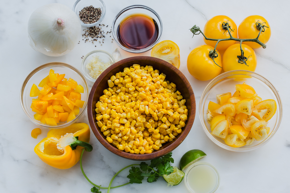 Green Valley Organics Corn, Yellow Pepper, and Yellow Tomato Soup Ingredients