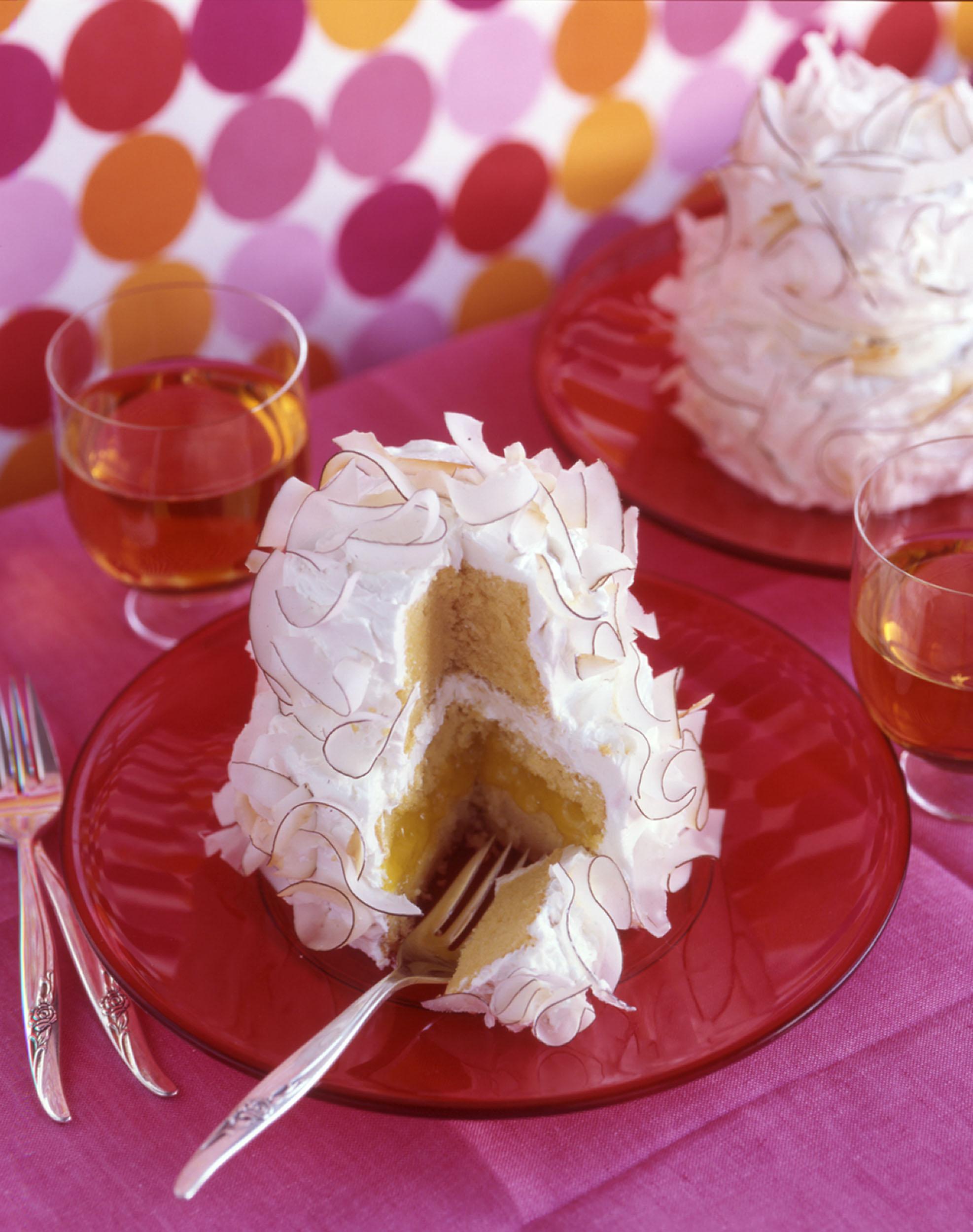 Mini Coconut-Lemon Cream Wedding Cakes