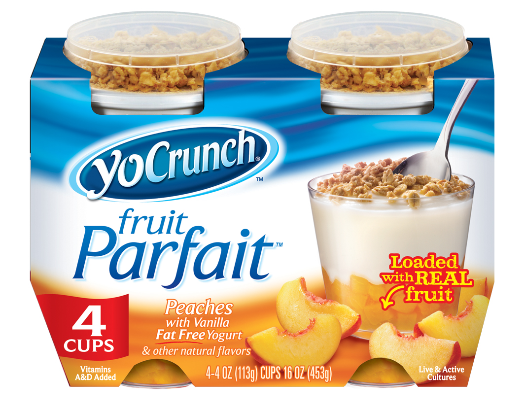 YoCrunch Peach Fruit Parfait Fat Free Yogurt