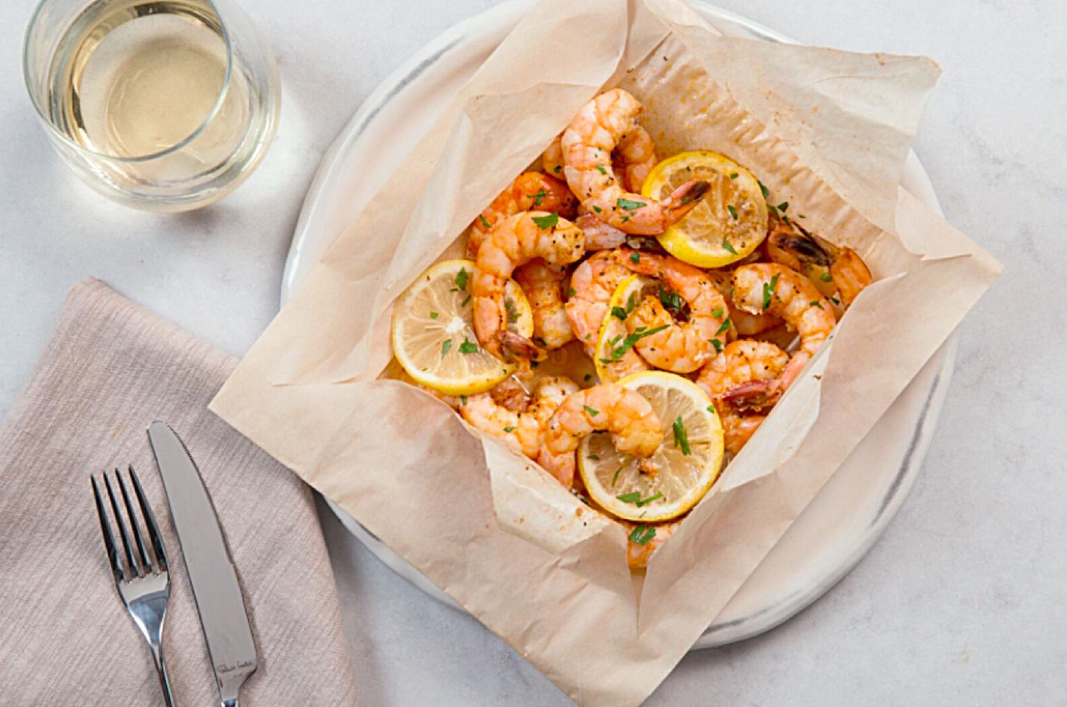 Shrimp en Papiotte