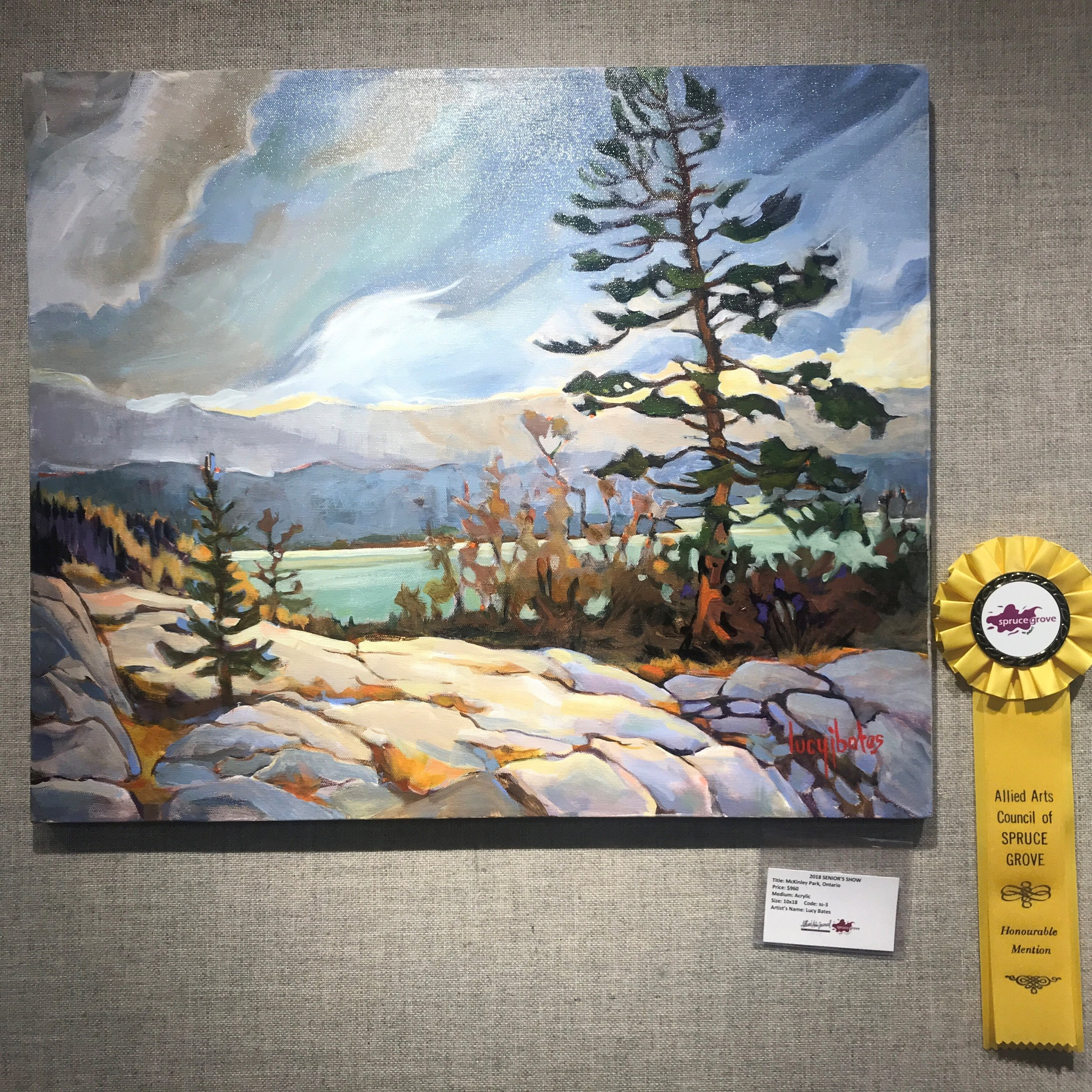 Lucy Bates -McKinley Park Ontario Honourable Mention