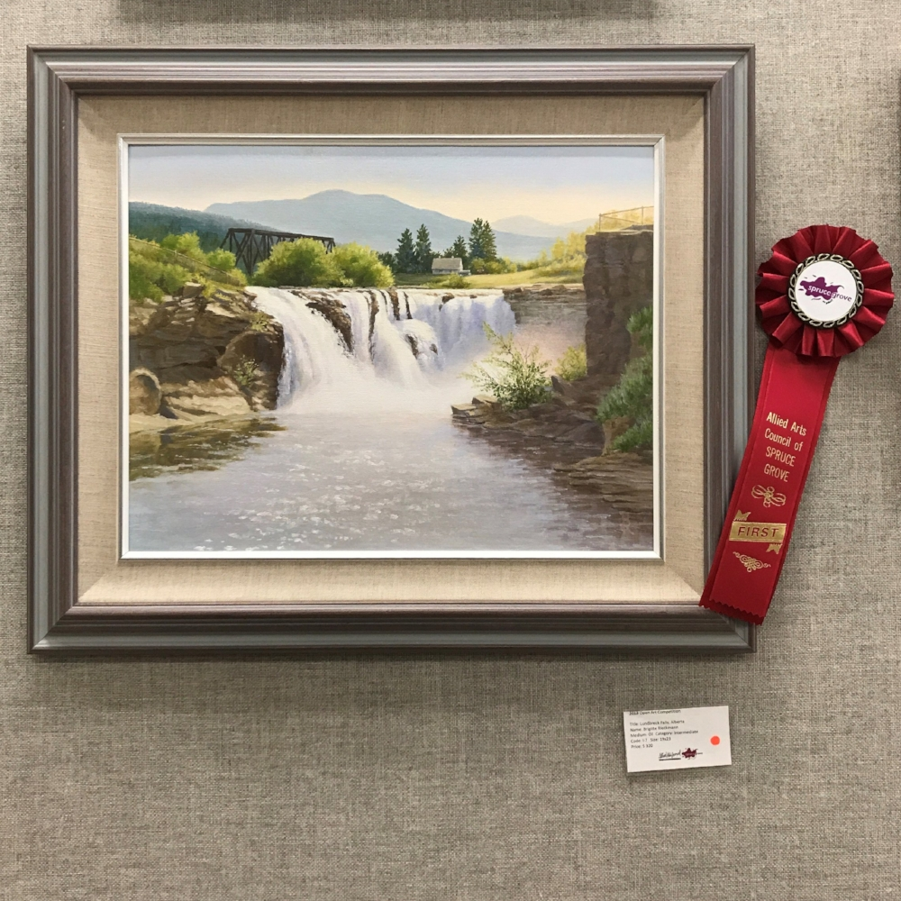 Lundbreck Falls, Alberta by Brigitte Reikmann -Intermediate Category