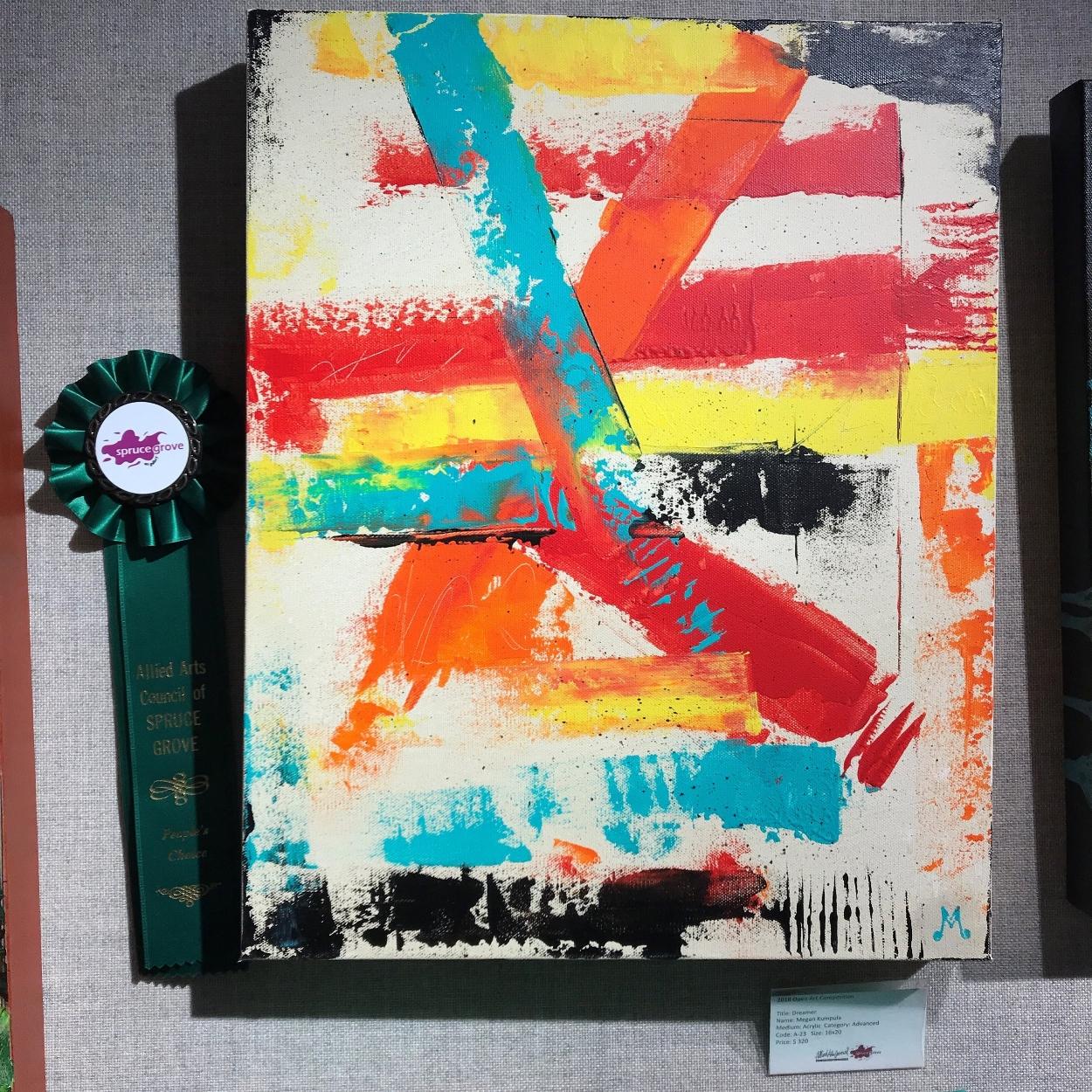"""""""Dreamer"""" by Megan Kumpula, Acrylic, 16""""x20'"""", $320.00, Advanced Category"""