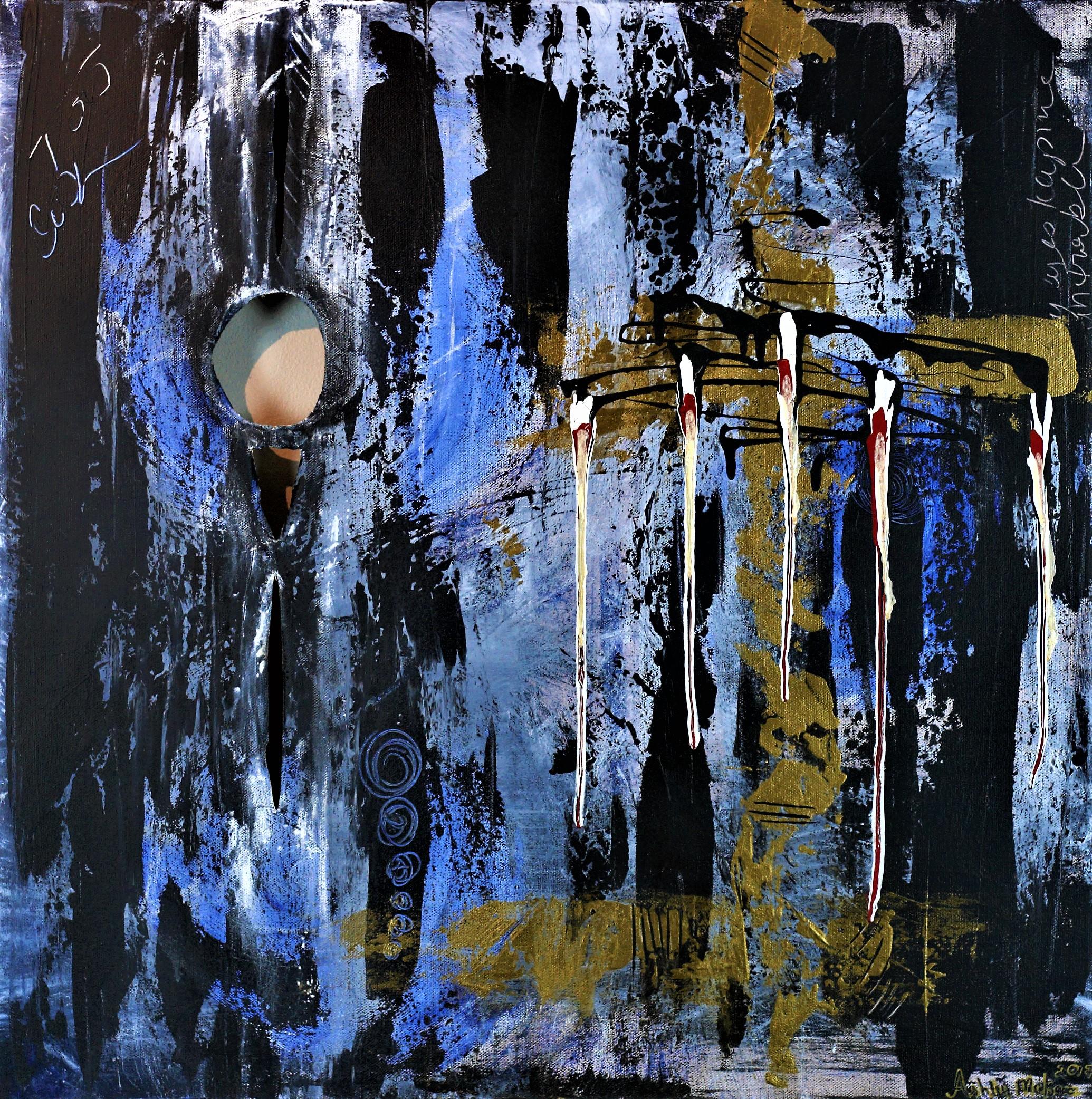 'Hello, Trouble' - David Wilcox - 24x24 - Edges Ultramarine, cut out holes - Copy.jpg
