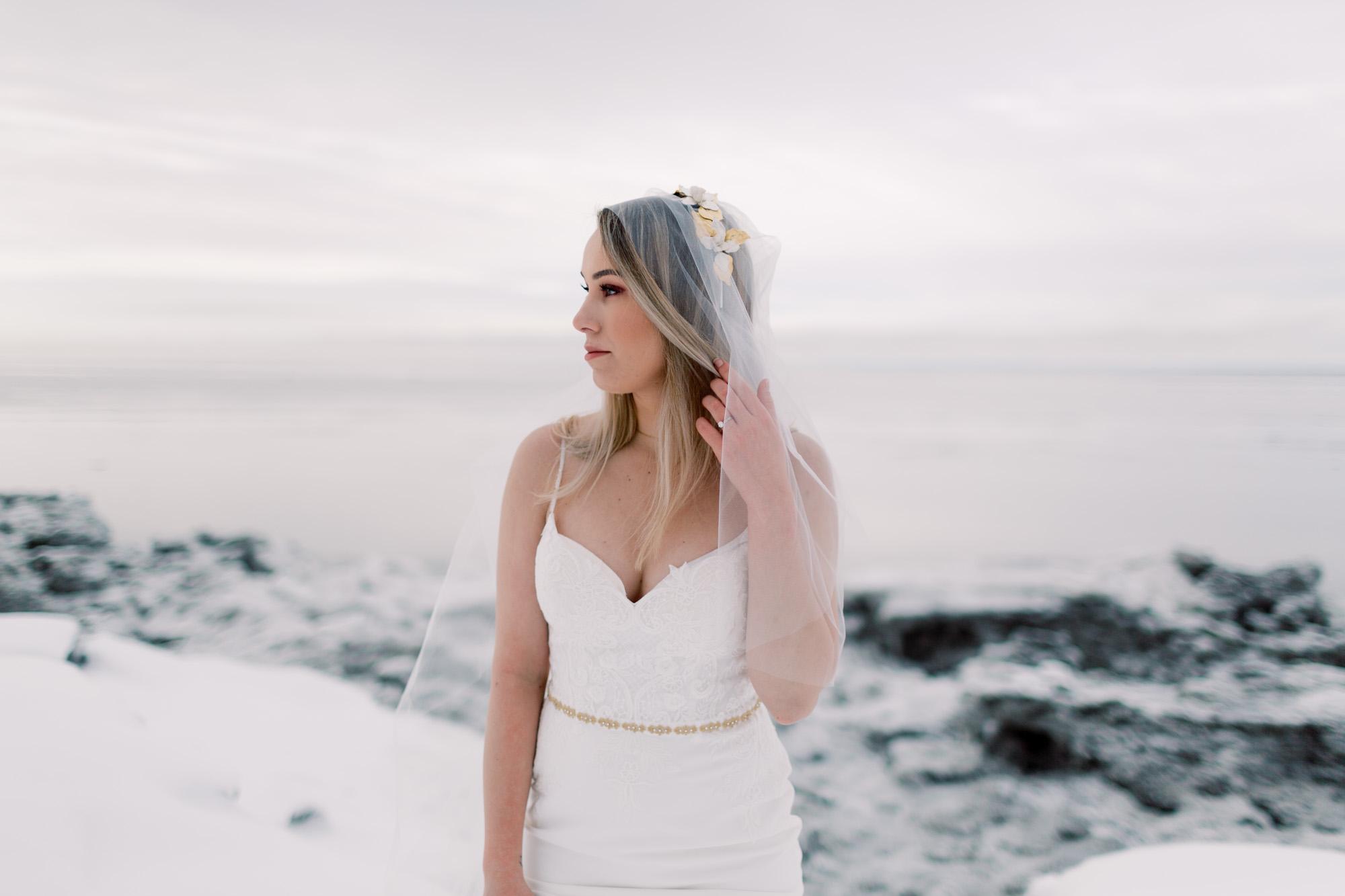 Haute Bride, frozen Alaska landscapes - with Corinne Graves Photography