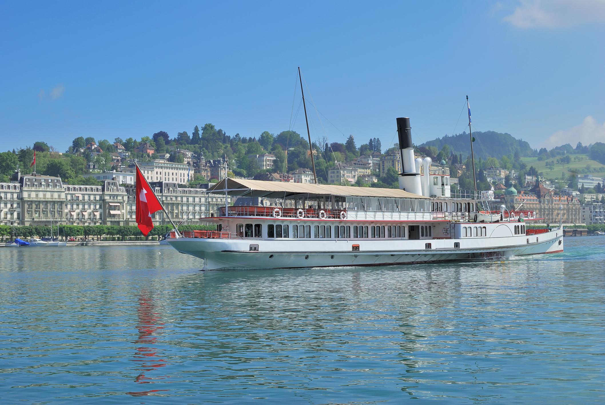 Steamship on Lake Lucerne