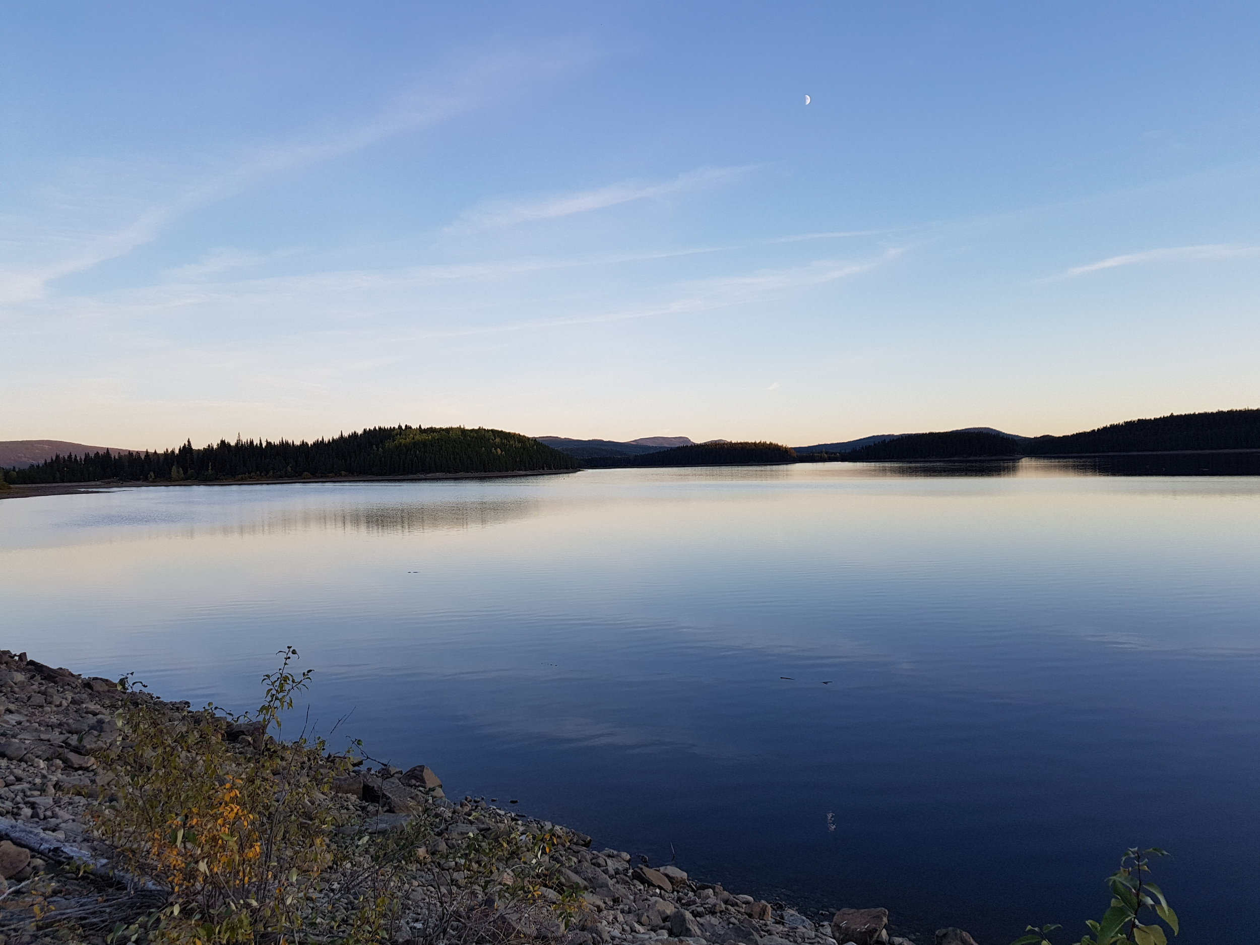 McCulloch Lake at sunset.