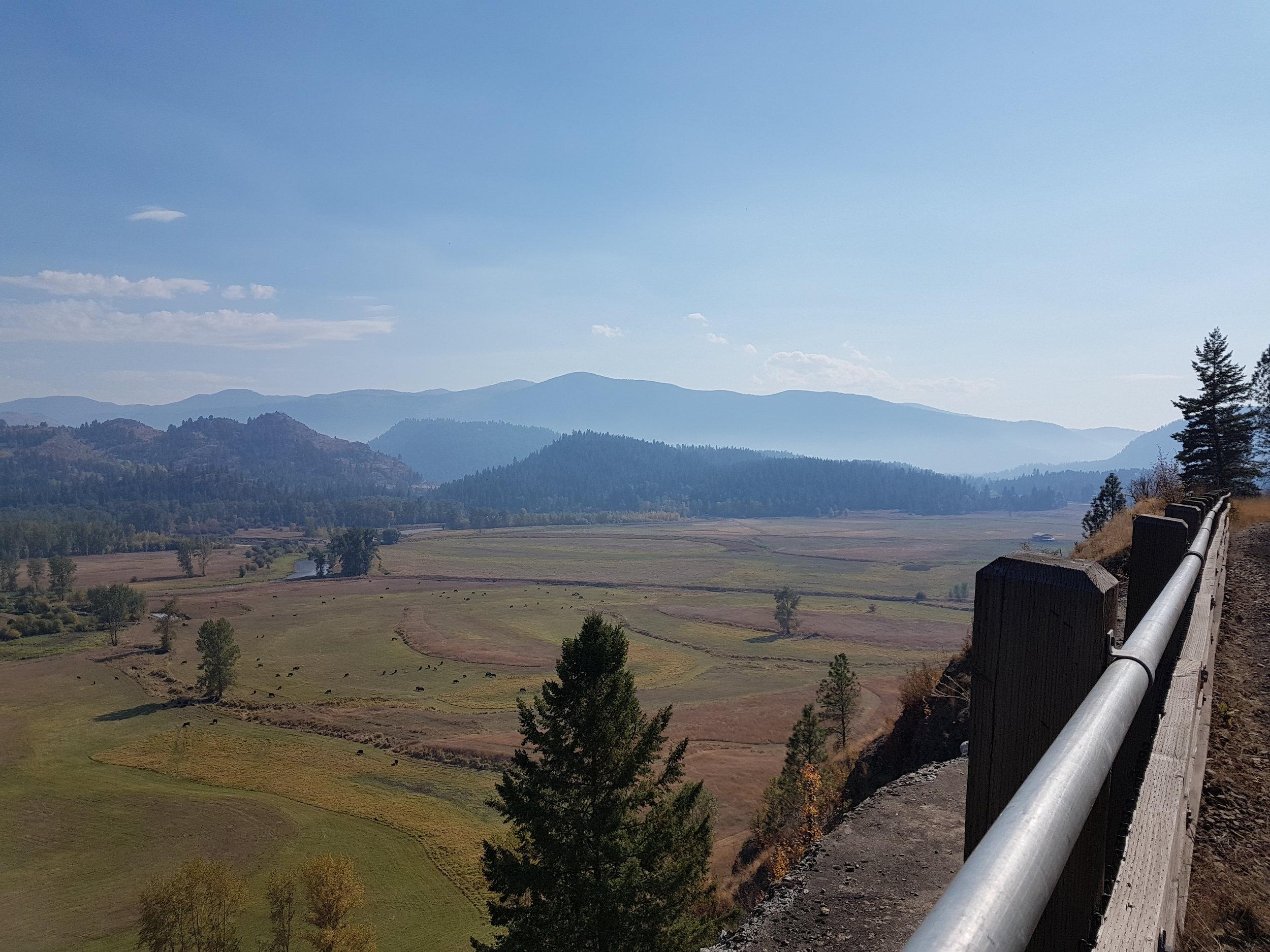 Views from C&W Rail Trail near Grand Forks