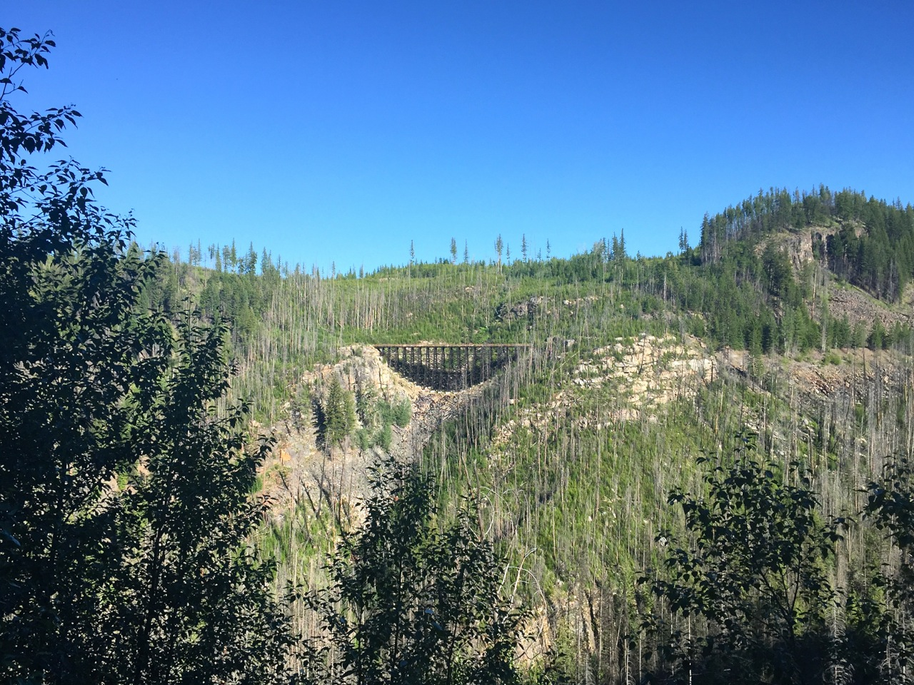One of the trestles you'll ride across at Myra Canyon.