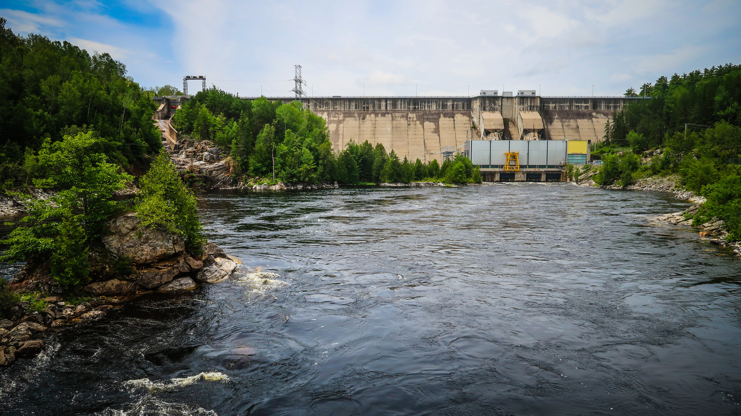 The Mountain Chute Dam is an impressive sight to see after a long bike ride.