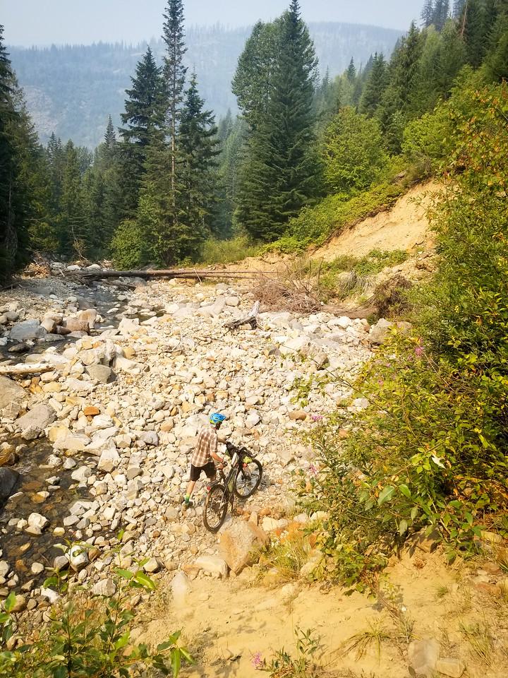 The heinous hike-a-bike section