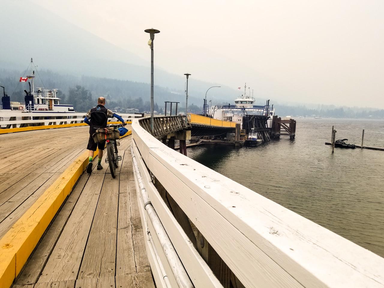 The Balfour ferry, ready to cross Kootenay Lake