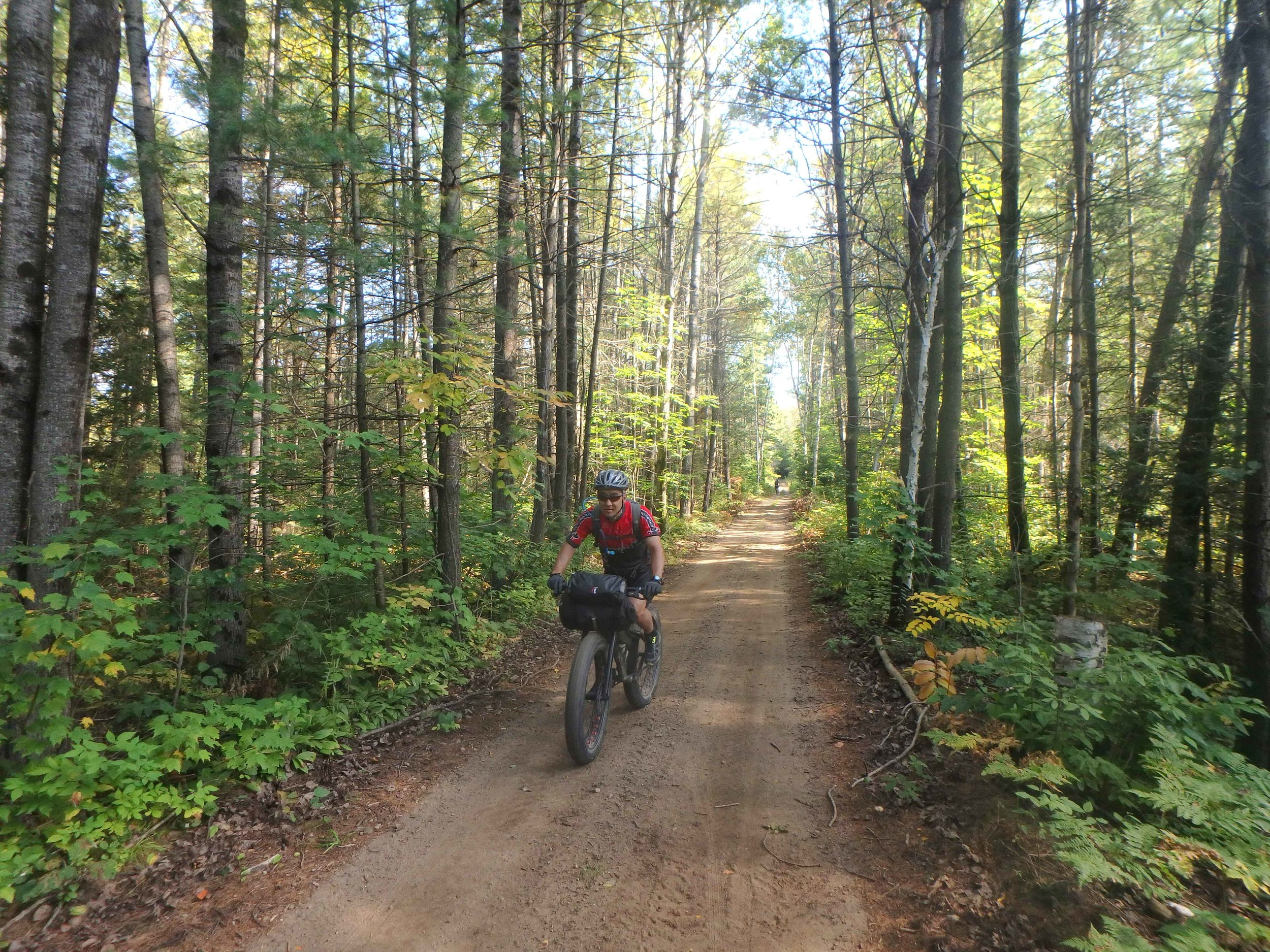 Dirt road bliss on the approach to Haliburton