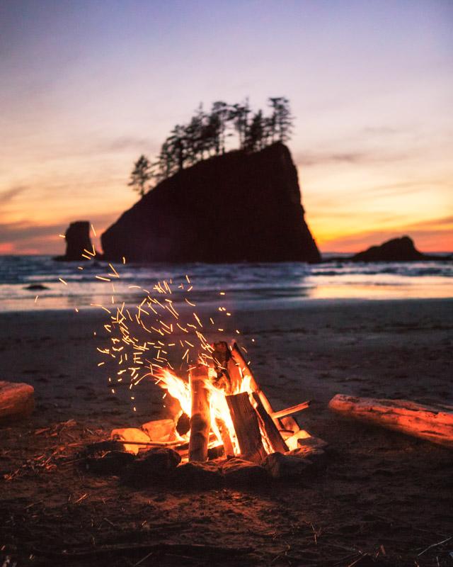 Second Beach camp fire by Michael Matti.jpg