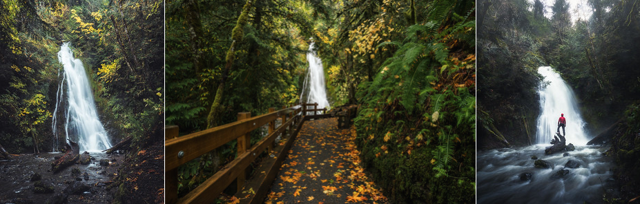 """0.2 miles RT - 0ft of gain.  This """"hike"""" is really more of a 3 minute walk down a paved trail than an actual hike. But nonetheless, it is a fun stop on the drive out to the coast from Port Angeles.  WTA link:  https://www.wta.org/go-hiking/hikes/madison-falls   AllTrails link:  https://www.alltrails.com/trail/us/washington/madison-falls-trail"""