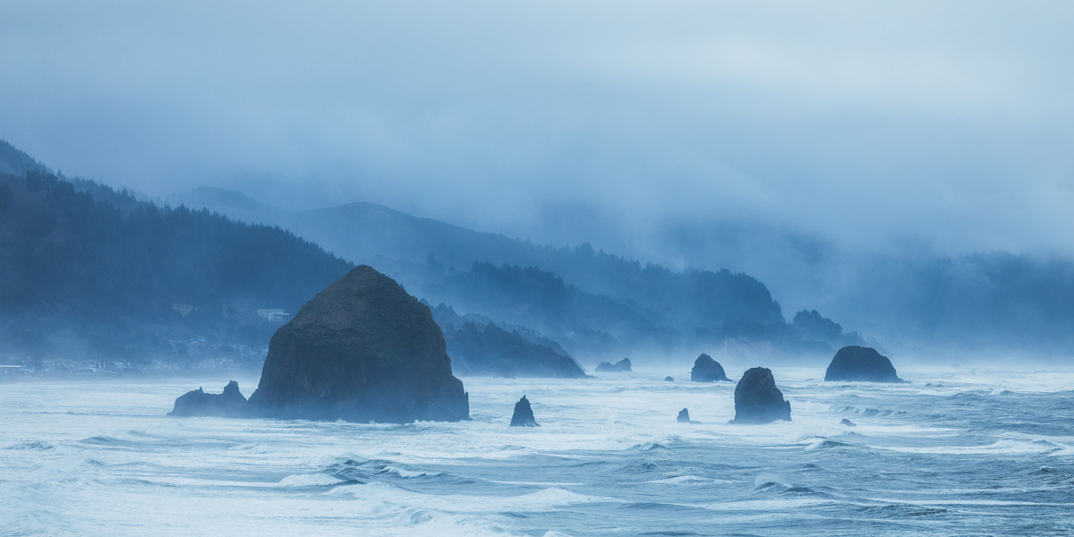 Cannon Beach from Ecola State Park on the Oregon coast 2 by Michael Matti.jpg