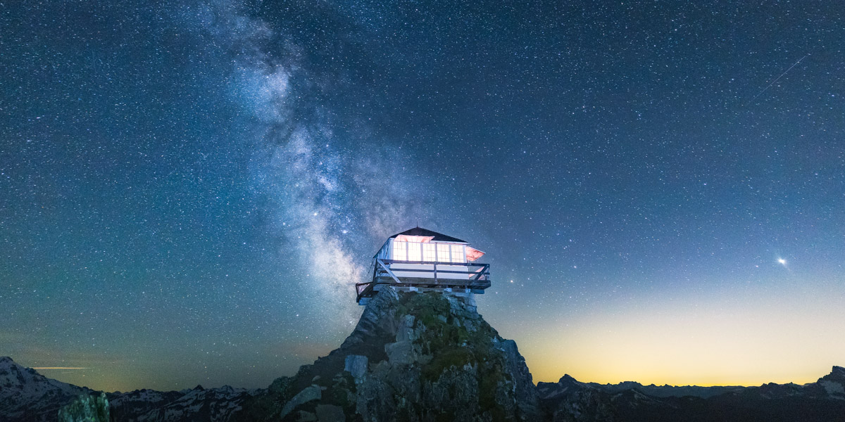 Green Mountain Lookout in Washington with the Milky Way by Michael Matti.jpg