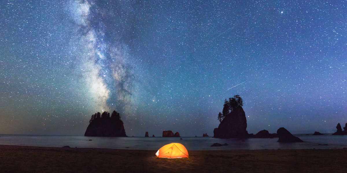 Marmot Tent on Second Beach in Washington with the Milky Way by Michael Matti.jpg
