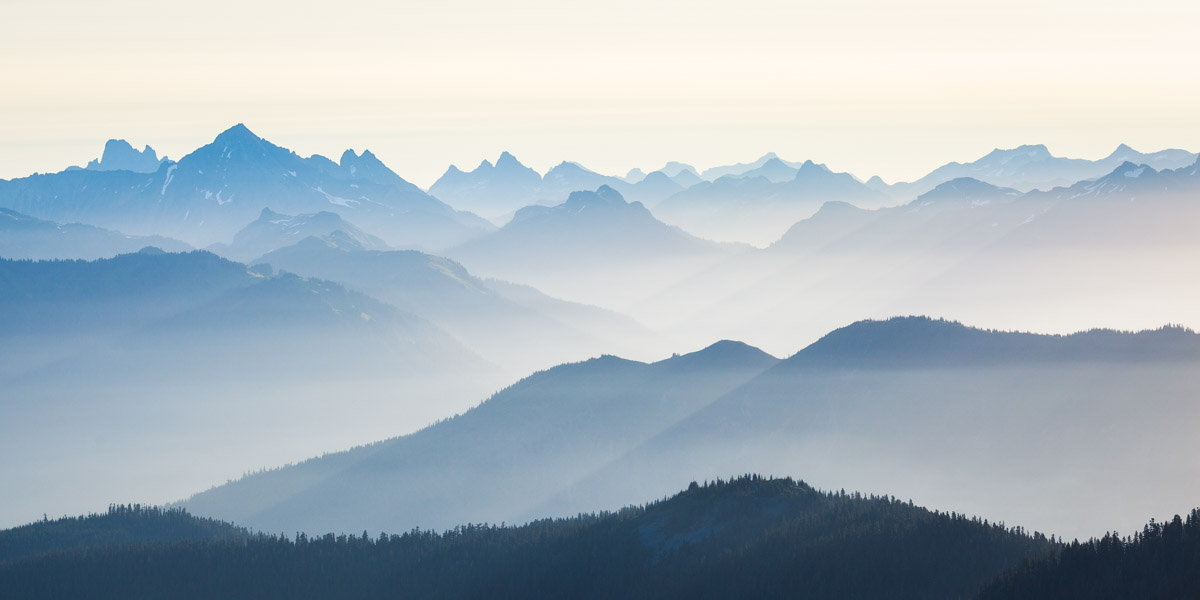 Skyline Divide Mountain Layers in WA at Sunrise by Michael Matti.jpg