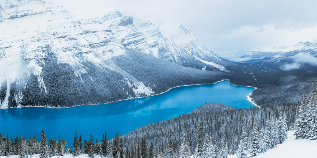 Peyto Lake in the snow pano by Michael Matti.jpg