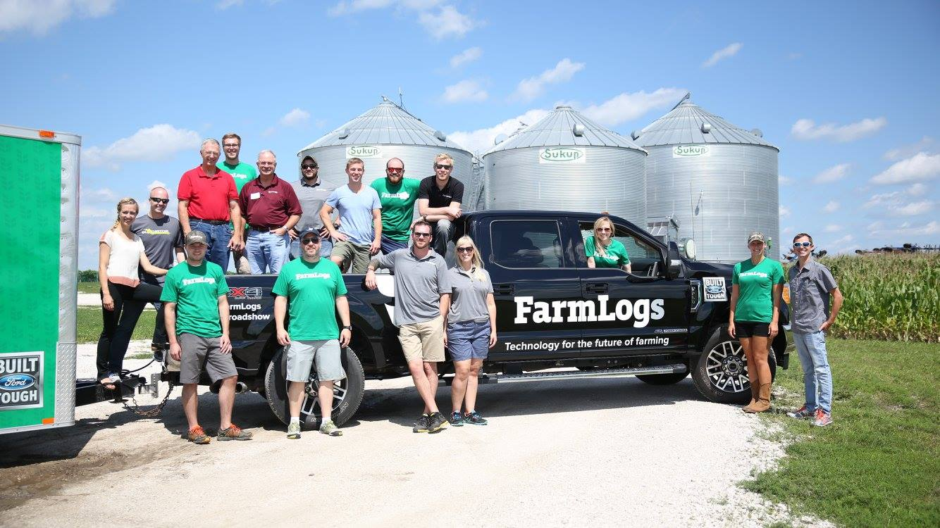 This was a small group of us from the team back in 2016 on a summer roadshow accross the Corn Belt.