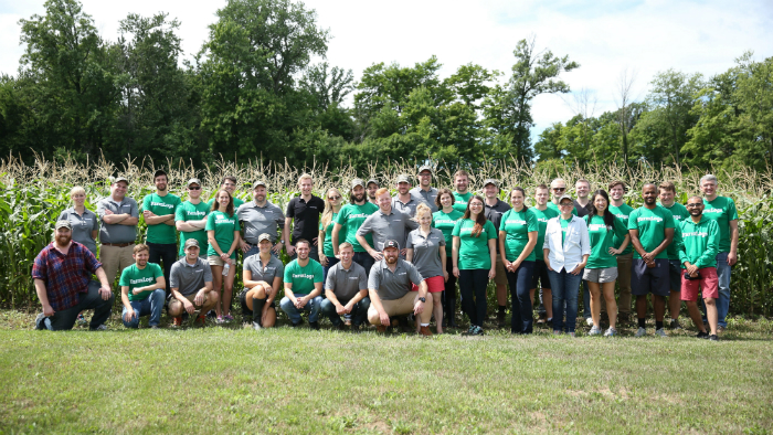 The FarmLogs team back in 2016 at our CEO's family farm.
