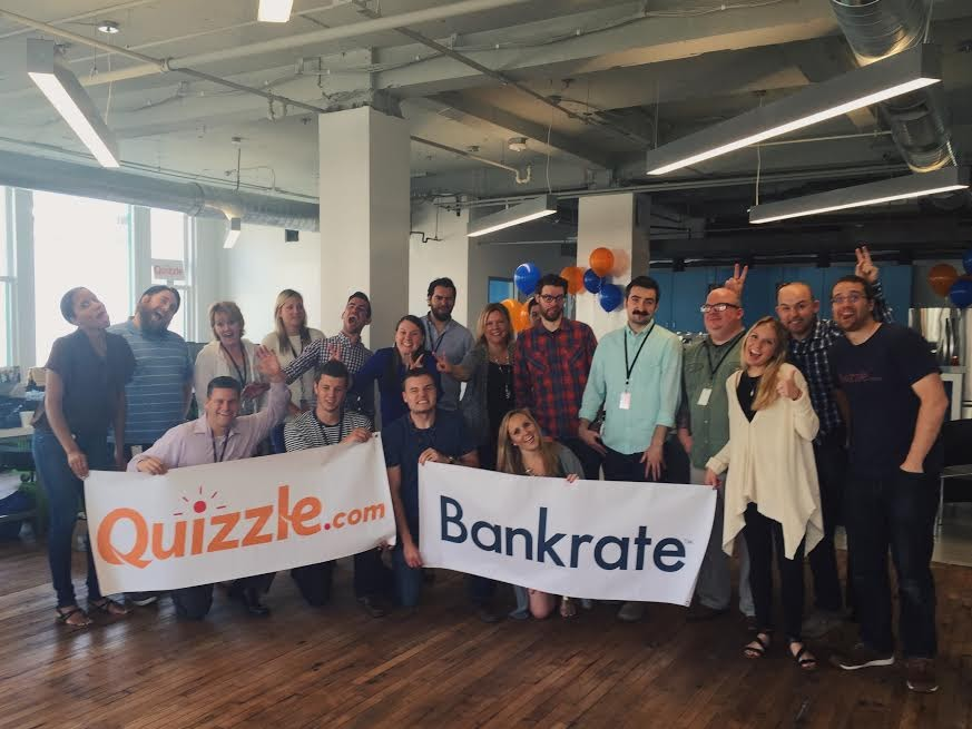 Quizzle.com Acquired by Bakrate, Inc. - It was an exciting point in my career to go through an acquisition. The ups and downs of the due diligence, negotiations and long hours leading up to the sale was well worth it after being adopted into a great company like Bankrate where our team then continued to build out some great products for the corporation.