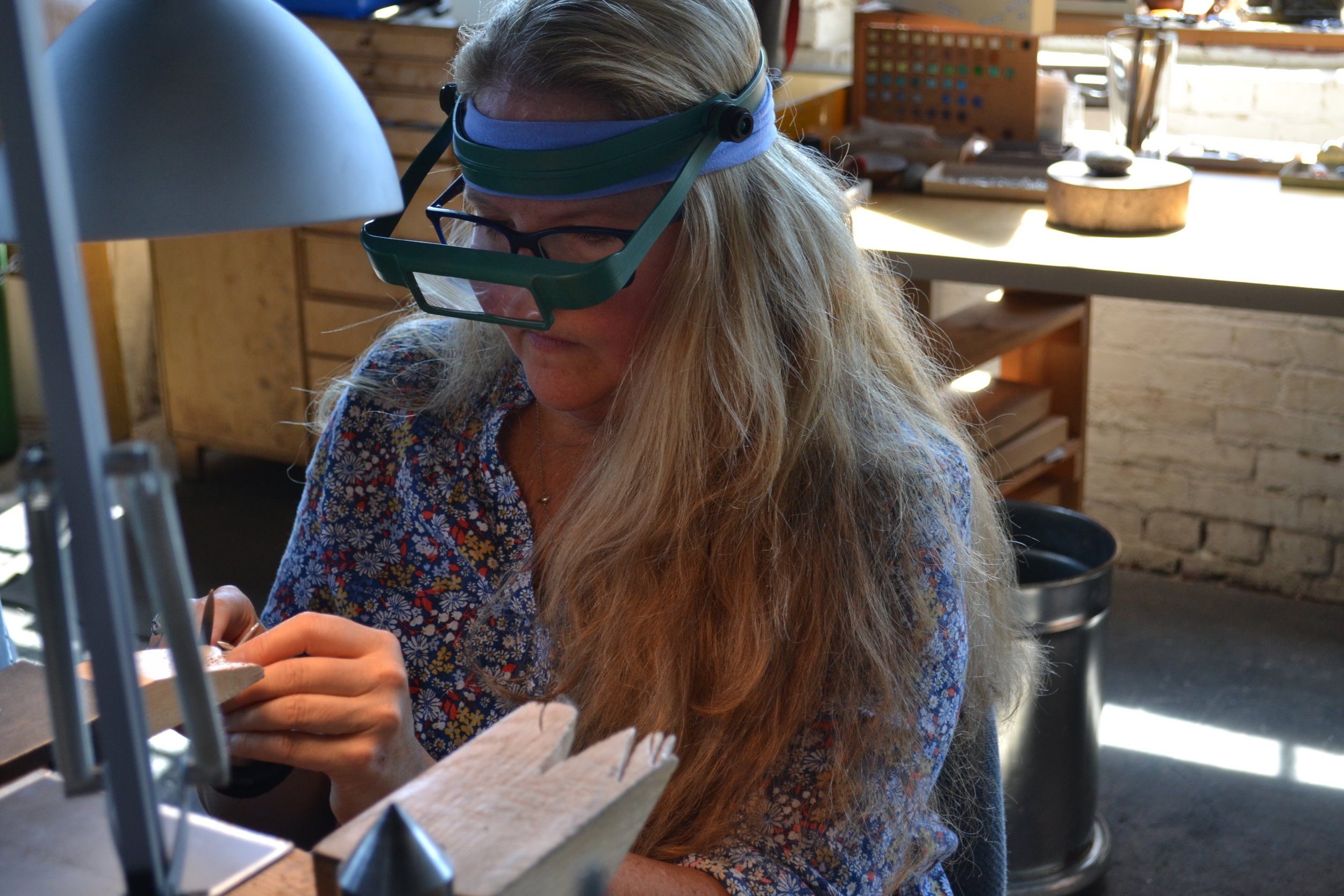 RISD Alumni Elise Moran, a New Hampshire-based metalsmith,looks forward to showcasing her jewelry in the Art Providence Holiday Show.