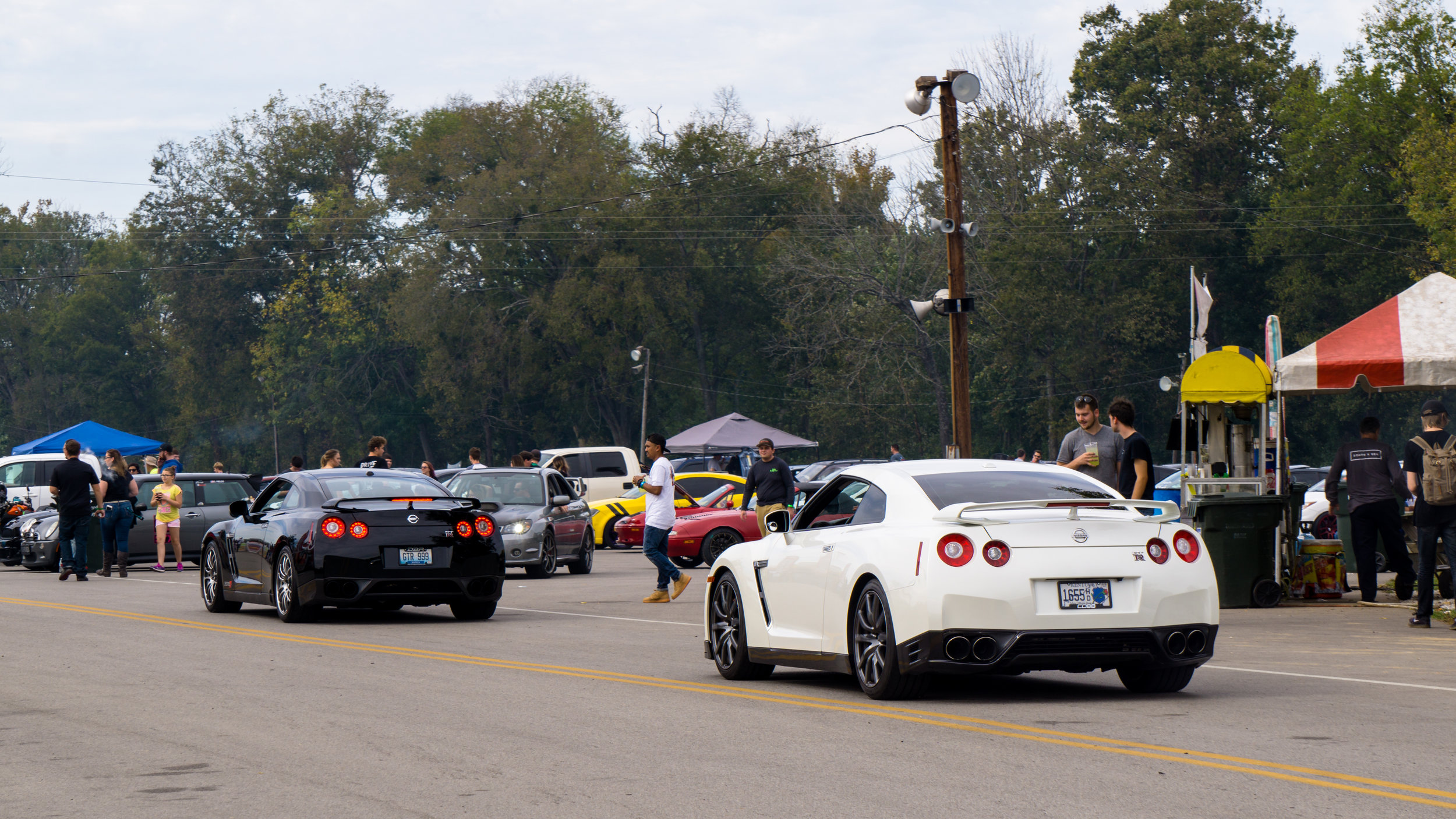 A few GTR getting ready to take a run at the drag strip.