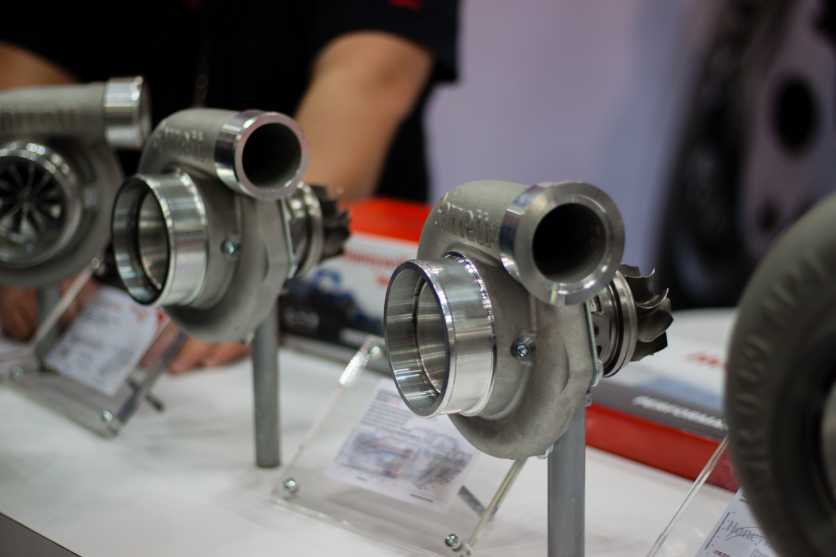 Garrett GTX Turbochargers on display. Gorgeous and quick spooling!