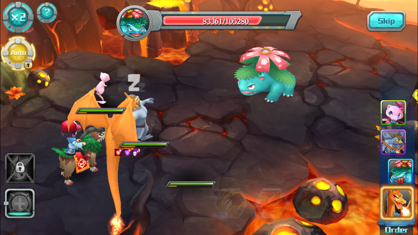 Battles are fast paced, and legendary Pokemon are very easy to acquire. (Mew is awarded after 7 days of log in.)