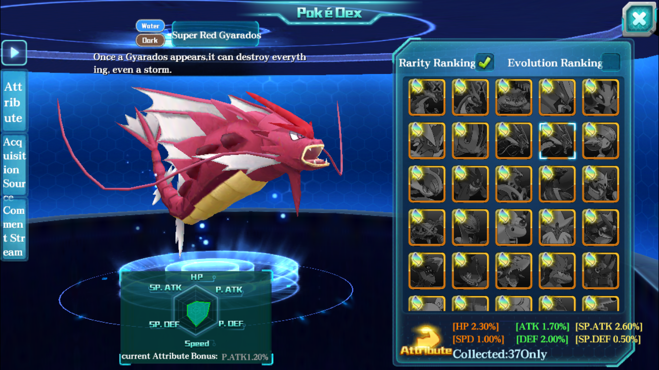 You can search the Pokedex for Pokemon you want to acquire.