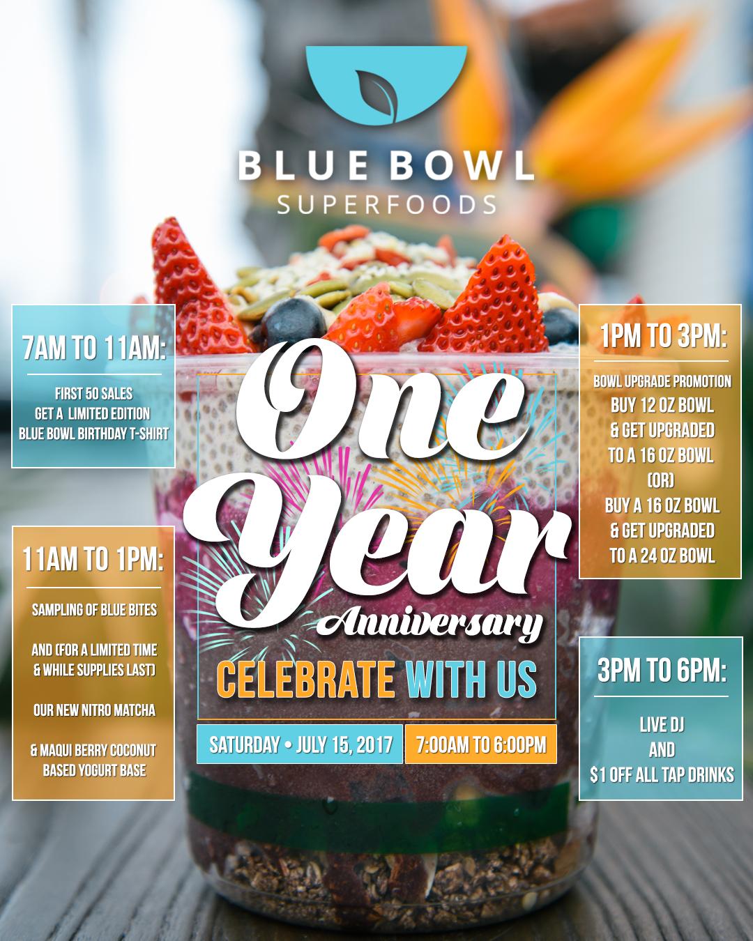Happy One Year Anniversary Blue Bowl Eye Recap