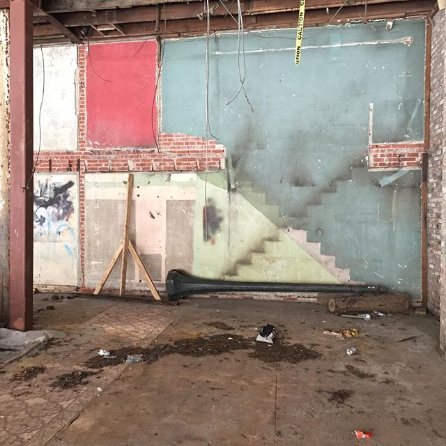 I love when buildings leave us clues. You can see where stairs used to be, previous beam locations, and decorative floor tile in the Mobile, AL downtown property. More in my Instagram stories.  #historicarchitecture #mobilealabama #interiordesign #downtown #preservation
