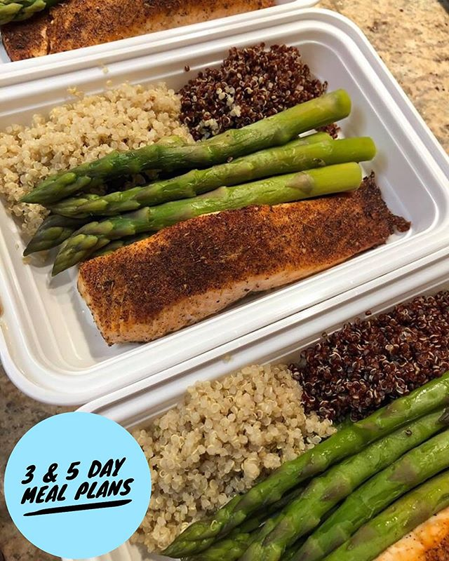 Trying to Eat Clean? Try Our 3 & 5 Day Meal Plans That Will Get You in The Right Track!  Enjoyable Dishes, Simple & No Hassle.  Call Today to Start off Clean for The Summer ☀️!